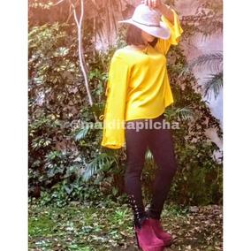 Blusa Camisa Camisola De Vestir Larga Mujer Lisa Color