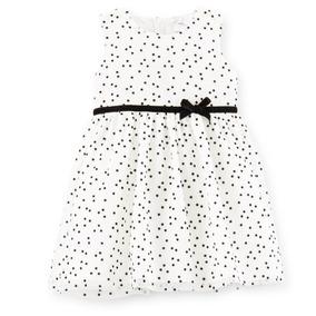 Vestidinho Lindo Branco C Bolinhas Pretas +calcinha-121c693