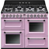 Cocina Smeg Mixta 110 Cm Tr4110ro-ar Rosa