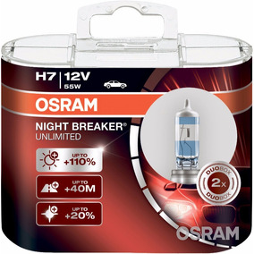Bombillos X2 Osram H7 Night Breaker Unlimited 12v/55w