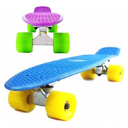 Skate Penny 22 Mini Longboard Patineta Color Trucks Aluminio