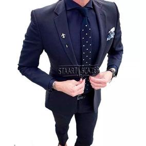 Terno Masculino Smoking Oxford Slim Calça + Colete + Paletó