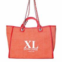 Xl Extra Large Ixum Tote Naranja Cartera Para Mujer.