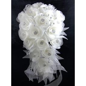 Ramo Gota Rosas Cristal Bco Ivory