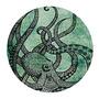 Magnífico Fresco Del Pulpo De Color Impreso Mousepad Redon