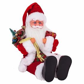 Boneco Papai Noel Sentado 40 Cm