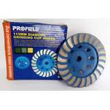 Rebolo Diamantado Turbo 115mm Profield C/ Rosca M14 - Caixa