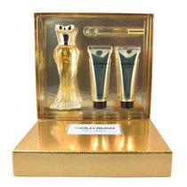 Set Paris Hilton Gold Rush 4 Pzs Eau De Parfum 100 Ml + Roll
