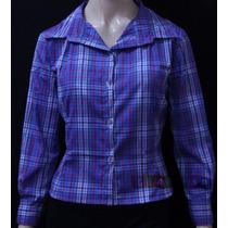 Camisa Country Feminina Blusa Xadrez - Várias Cores