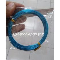 Alambre Para Bisuteria Aluminio 0.8 Mm X 10 Mts Color Azul