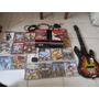 Playstation 3 Con 2 Controles Y 19 Juegos Y Guitarra