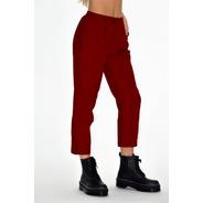 Pantalón Mujer Bordo High Slim Pant Chupin