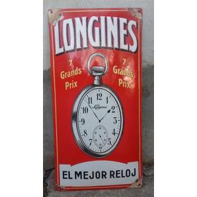 Antiguo Cartel Enlozado Relojes Longines