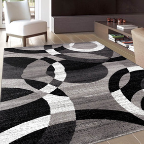 Rugshop Contemporary Modern Circles Abstract Area Rug 10 ...