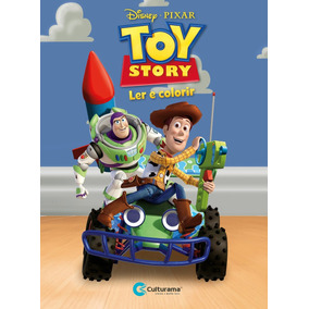 Livro Toy Story - Ler E Colorir Médio - Culturama