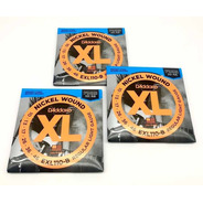 Kit 3 Enc. D'addario 010 Guitarra Exl110-b  Com Mi Extra