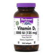 Vitamina D3 5000 Ui 250 Softgels Bluebonnet Importada