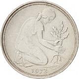 Set De 5 Monedas De Alemania Federal + 0,50,1,2,2 Y 5 Mark