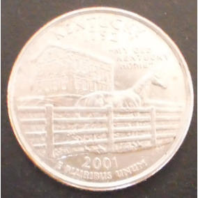 Moeda Eua Quarter Dollar Kentucky 2001 D