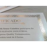 Certificado Diploma P Imprimir Bordas Dourado Kit 5 Unidades