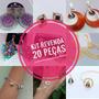 Kit Revenda 20 Brincos Colares Pulseiras Aneis