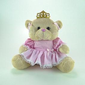 Urso De Pelúcia Princesa M Rosa