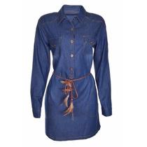 Vestido Jeans Feminino Chemise