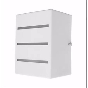 Kit 4 Arandela Frisada 2 Fachos Em Alumínio Uso Externo E27