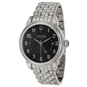Reloj Bulova 63b154 Hombre Accutron Automatico Suizo Zafiro