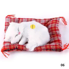 Gato Dormindo - Com Som - Pronta Entrega - Branco