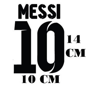 Adesivo Decalque Camisa Messi 10 Futebol C Frete Grátis