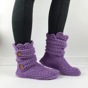 Zapatos Tejidos A Crochet Hechos A Mano Para Adulto