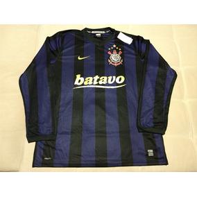 Camisa Do Corinthians Nike Batavo Manga Longa 2009 Original f0ae2a427c906