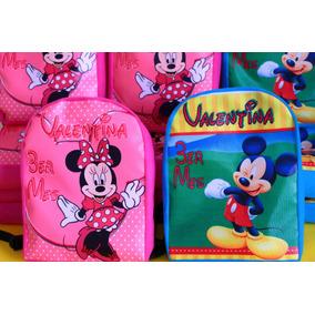 Mochila Dulcero Personalizada Mickey Y Minnie