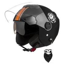 Capacete Pro Tork New Atomic Laranja Skull Riders + Brindes