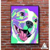 Cuadro Moderno Animal Color 30 X 40 Cm Perro