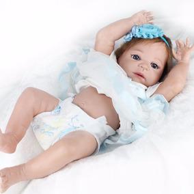 Boneca Reborn Toda Em Vinil Siliconado 55cm Por 570,00 Reais