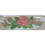 Matriz Bordado Ponto Cruz Rosas Botões Floral Flores C04