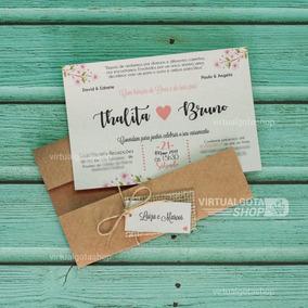 70 Convites De Casamento Rústico Varios Modelos Frete Grátis