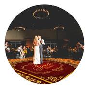 Pista De Dança Aniversário 15 Anos Dourado Vinho Db22 - 4x4m