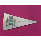 Banderín Federación Deportiva Militar Argentina - 33 X 15 Cm