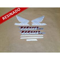 Kit Adesivos Cg Titan 150 Ex 2013 Vermelha - Resinado Decalx