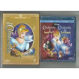 Blu-rays Cinderela 1, 2 & 3 Coleção Completa Disney Lacrados