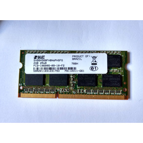 Memória Smart Sh564568fh8nwphsfg 2gb Ddr3 1333 Mhz Notebook