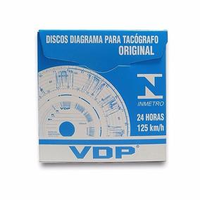 Disco Diagrama Tacógrafo Semanal 125 Km Vdp Cx C/ 10 Jogos
