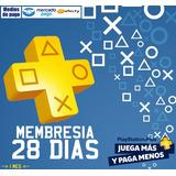 Playstation Plus 1 Mes Psn Ps3 Ps4 Psvita 28 Dias Membresia