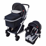 Carriola Dbebe Crown Negro Con Portabebe Y Base Auto