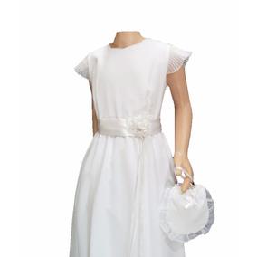 Vestido Comunion Corte Princesa Aplique Flor 2101 Childrens