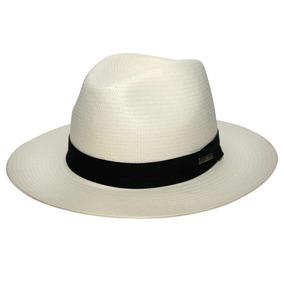Chapéu Casual Shantung Fita Preta-marfim-tamanho 62 b63bd948698