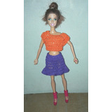Ropa Tejida Al Crochet Para Muñeca Barbie